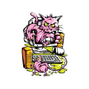 Bügelbild Cat and Mouse